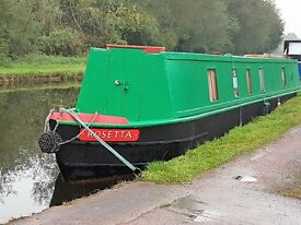 'Rosetta' 53' Narrowboat For Sale.