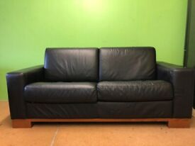 b404783bc7b8 Sofa bed - 2 seater - Two seater sofa bed - Leather - Mattress - Excellent