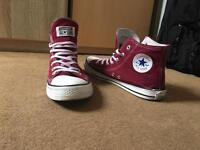 Men's Converse High Size 9 Maroon Good Condition
