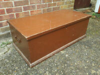 Antique Pine Blanket Box Old Wooden Trunk Pine Coffee Table Wooden Pine Chest