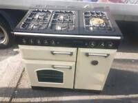 Cream and black range cooker (as new)