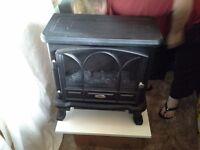 Classic flare electric fire wood burner effect