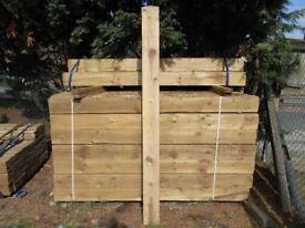 Timber gate post 175mmx175mmx2.4m