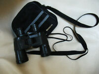 Tasco binoculars with soft case with shoulder strap