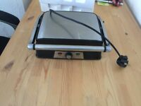 VonShef 2 in 1 Sandwich Panini Press & Grill - Stainless Steel