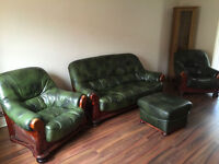3 piece leather settee