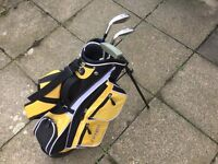 Children's golf bag and clubs