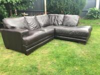 Brown leather corner sofa can deliver