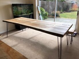 Beautiful hand made, solid wood dining table. 1 off