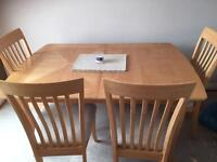 Wooden extended Dining Table