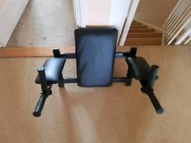 Wall-mounted Dip Station & Leg Raise Rack