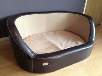 Dog Leather Bed by Wallace and Jones