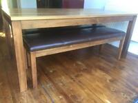 John Lewis dining table and 2 / Chairs benches. Can deliver.