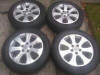 Vauxhall zafira astra 5 stud 16 inch alloys x 4