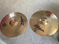 "Zildjian s mastersound 14"" hi hat cymbals"