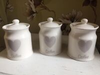3 brand new unused coffee jars