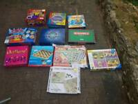 Board games job lot Scrabble trivial pursuit and more