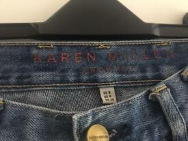 Ladies karen Millen Jeans with pocket detail - size 8/36