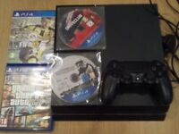 Sony Playstation 4 (PS4) + PSN account + 4 games Grand Theft Auto 5, Fifa, Star Wars, Driveclub