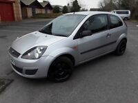 Ford Fiesta Style Climate 1.25, 77000 miles, Low Miles in silver with alloy wheels
