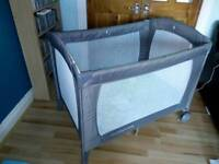 Travel cot, as new, with instruction book