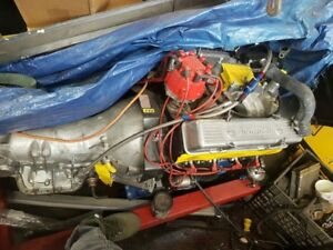355 Chevy built pro stock motor and transmission