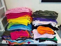 Jot Lot 600+ New Blank Kids T-shirts/Sweaters/Hoodies - AWDis, Gildan, Sols & SkinnyFit