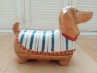 Long porcelain DOG Dish £5