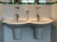 Double sinks with taps. Good Quality