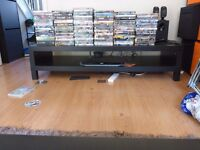 Ikea tv stand black brown