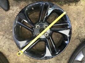 Vauxhall Corsa E single 18Inch Alloy in Black.