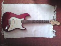 Fender Deluxe mim stratocaster electric guitar not gibson ibanez prs.
