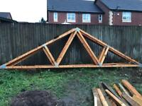 Roof trusses ideal for garage x5 collection only
