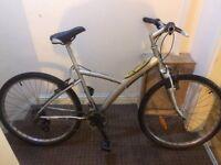 Hybrid bike aluminium frame