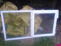 """UPVC WHITE PLASTIC DOUBLE GLAZED GLAZING WINDOWS 4 SHED/ GARAGE+VARIOUS GLASS SEALED UNITS 63"""" X 37"""""""