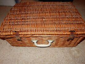 1970s vintage picnic hamper and all contents