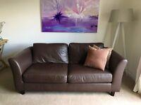 Lovely Leather 2 Seater Habitat Sofa