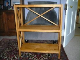 Solid wood bookcase from Bakers and Larners of Holt