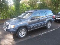 2002 JEEP GRAND CHEROKEE LTD 4x4 AUTO MOT JUNE POSS PART X