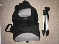 Sony camera case, camera bag and tripod