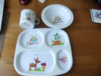 Kids Plate, Bowl and cup