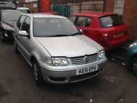 VW POLO 2001 AUTOMATIC - BREAKING FULL CAR