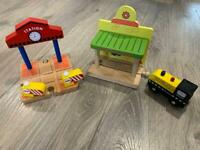 Wooden train accessories