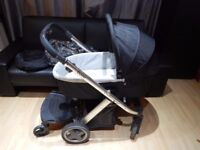 REDUCED! Oyster pram + footmuff carrycot rain cover