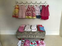 Age 6-9 months – baby girl spring/summer clothes bundle – 38 items