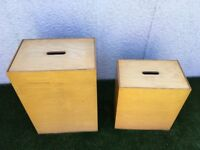 Habitat Wooden Storage Boxes with lids - x1 Large and x1 Small
