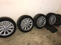 BMW 1 series wheels and tyres 195/55R16 GOODYEAR TYRES some have tread some worn need replacing