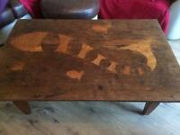 * REDUCED * Beutiful Large Fish embedded coffee table