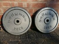 20KG BODYMAX OR GOLDS GYM WEIGHT PLATES