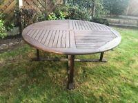 Wooden Garden Table Round 180 cm